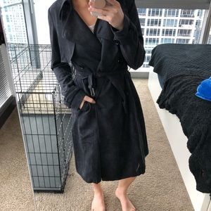 Nasty Gal Jackets & Coats - Charcoal Trench Coat